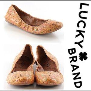 Lucky Brand cork flats